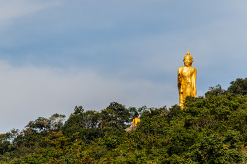 Big Buddha statue on mountain in Nong Bua Lam Phu,thailand