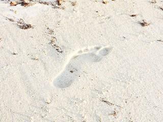 step on the sand