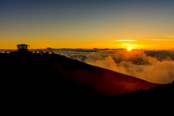 Sunset at Haleakala National Park Maui Hawaii USA