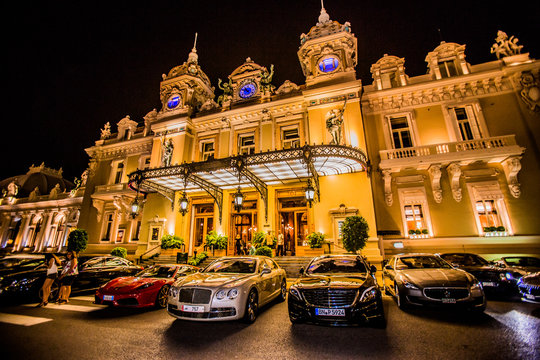 Casino at night, Monaco