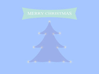 Christmas tree on a blue background.