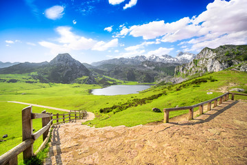 Lake Ercina, one of the famous lakes of Covadonga, Asturias