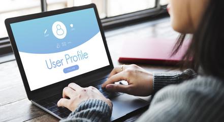 User Profile Account Follow Concept