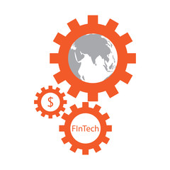 FinTech icon / symbol /sign