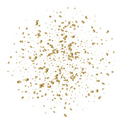 Abstract background with alling golden tiny confetti pieces.