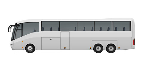White Travel Bus