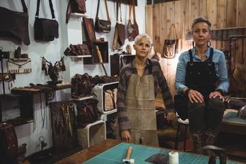 Confidence craftswomen in workshop