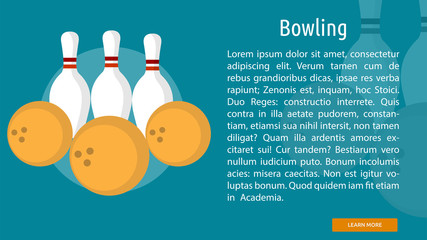 Bowling Conceptual Banner