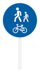 Prescriptive traffic sign - Pedestrian and Bicycle path
