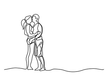 continuous line drawing of