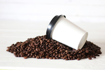 coffe paper cup bean