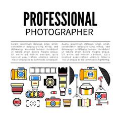 Photographer or photostudio concept design illustration.