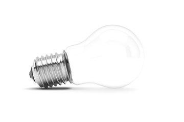 Light bulb on white background. 3D illustration