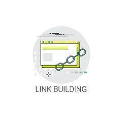 Link Building Seo Keywording Search Icon Vector Illustration