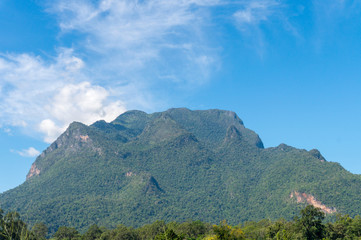 landscape view of Doi Luang Chiang Dao the big and high mountain in Chiang Mai,Thailand