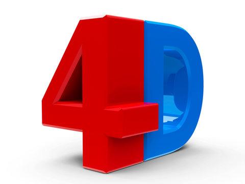 4D icon isometry