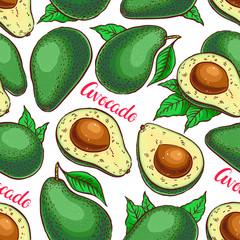 seamless colorful avocado