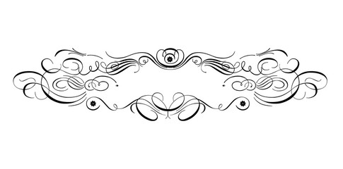 Decoration with ornamental calligraphic element