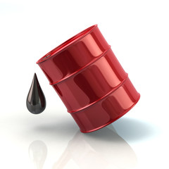Red barrel oil icon 3d rendering
