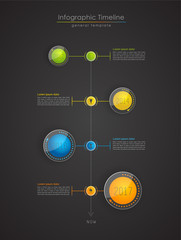 Colorful Infographic, typographic timeline report template - dar
