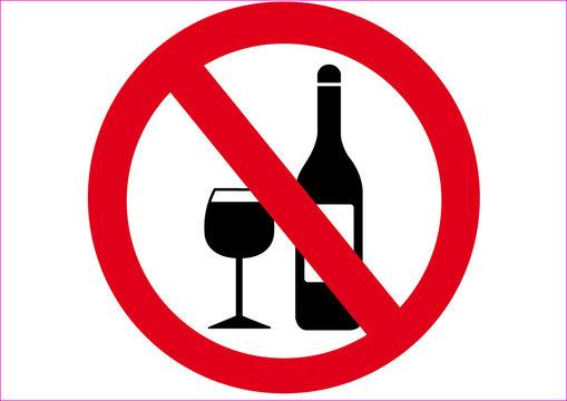 Schild Alkohol verboten