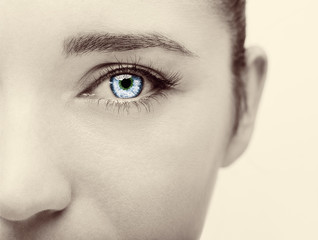 Beautiful insightful look woman's eye
