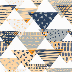 Abstract seamless chaotic pattern