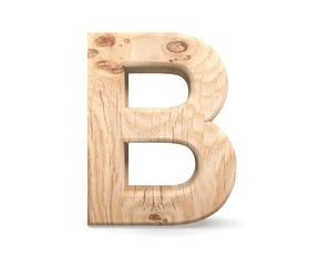 3D decorative wooden Alphabet, capital letter B