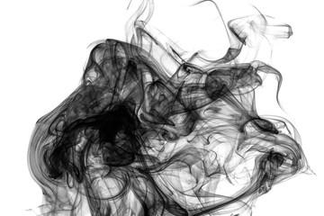Black grunge smoke.