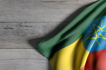 Ethiopia flag waving