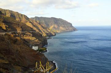 Beautiful view on ocean and coastline near Santa Cruz de Tenerife,Tenerife,Canary Islands,Spain.