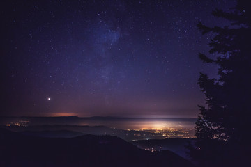 Night City from Mountains