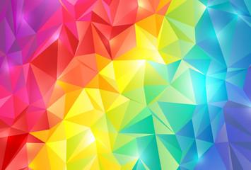 虹色 ポリゴン 背景