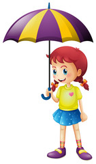 Little girl holding umbrella