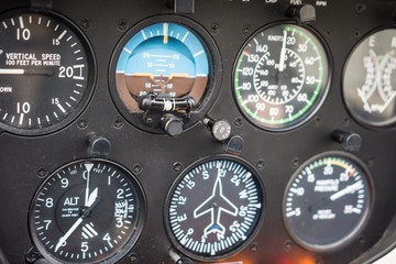 Helicopter Flight Instruments Gauge Panel