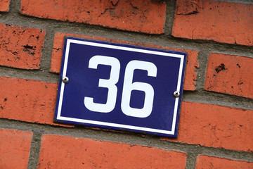 Hausnummer sechsunddreißig