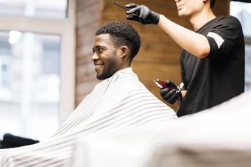 Visiting barbershop