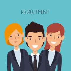 recruitment human resources icon vector illustration design