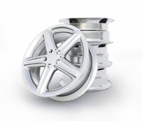 Aluminum wheel image high quality - 3D rendering