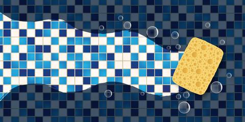 éponge - Nettoyage - Salle de bain - Sanitaire - Carreaux