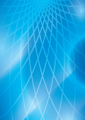 light blue abstract background with grid - vector