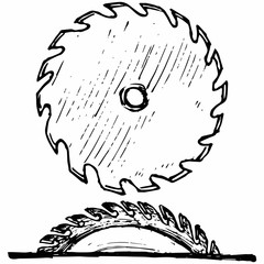 Industrial circular saw disk