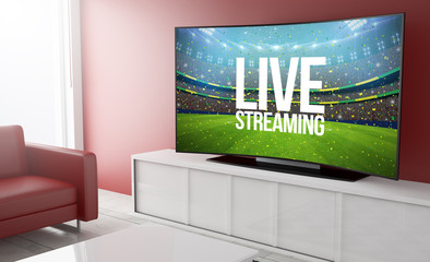 curved television live streaming