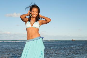 Portrait of a Dominican Girl dressing bikini
