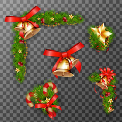 Christmas decorative elements. vector illustration