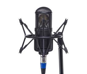 Musical black microphone