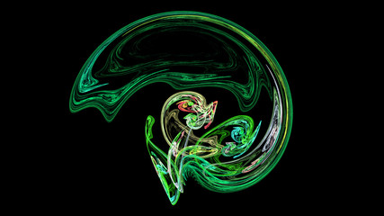 Green helmet or brain abstract background