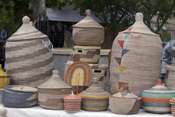 African Baskets For Sale at the Goombay Festival