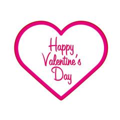 Happy Valentines Day. Heart. Vector flat illustration.