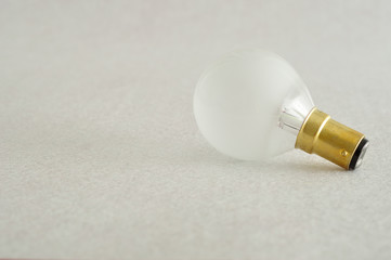A light bulb isolated on a white background